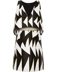 Thakoon Graphic Chevron Jacquard Beaded Waist Dress - Lyst