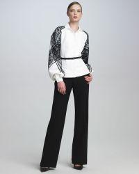 Carolina Herrera Wideleg Trousers - Lyst