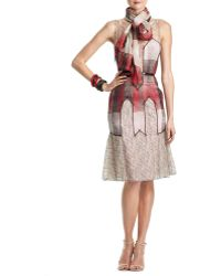 Carolina Herrera Sleeveless Chiffon & Lace Dress - Lyst