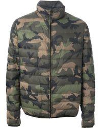 Valentino Camouflage Padded Jacket - Lyst