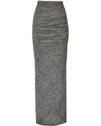 alice + olivia Octavia Fitted Rouched Maxi Skirt gray - Lyst