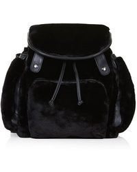 Topshop Faux Fur Backpack - Lyst
