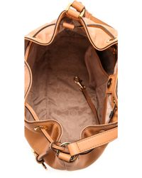 MICHAEL Michael Kors - Jules Large Drawstring Bucket Bag - Sun Tanblack - Lyst