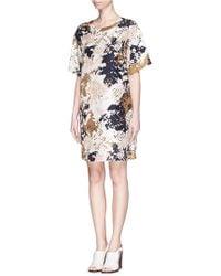 Rag & Bone 'Chester' Mosaic Camouflage Print Silk Dress - Lyst