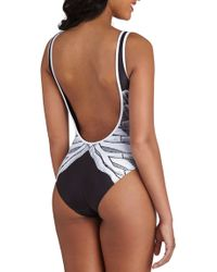 ModCloth Off To The Ocean One Piece in Anatomy - Lyst