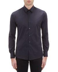 Fendi Tipped Poplin Shirt - Lyst