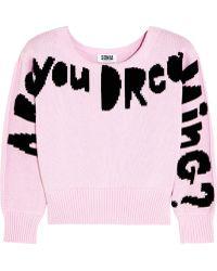 Sonia By Sonia Rykiel Cropped Sweater - Lyst