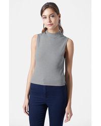 Topshop Sleeveless Funnel Top - Lyst