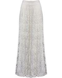 Alice + Olivia Caprice Maxi Skirt white - Lyst