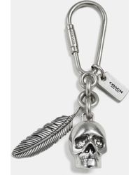 COACH | Skull And Feather Key Ring | Lyst