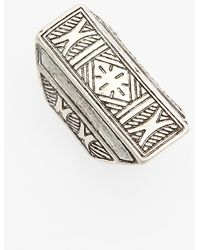 Spring Street Women'S Shield Ring - Silver - Lyst