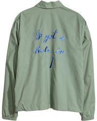 H&M Green Nylon Jacket - Lyst