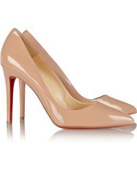 Christian Louboutin Pigalle 100 Patent-Leather Pumps - Lyst