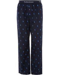 Polo Ralph Lauren All Over Logo Nightwear Pant - Lyst