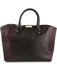 Burberry - Large Leather Bag - Lyst