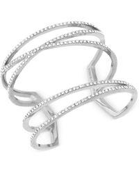 Vince Camuto - Open Pave Crystal Cuff Bracelet - Lyst