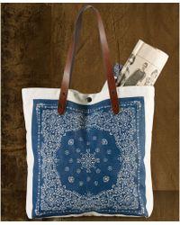 62c269acc017 Denim   Supply Ralph Lauren - Bandana Print Leathertrim Convertible Tote -  Lyst