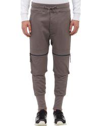 Helmut Lang Zip-pocket Drop-rise Sweatpants - Lyst