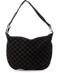 Gucci Black Suede Shoulder Bag - Lyst