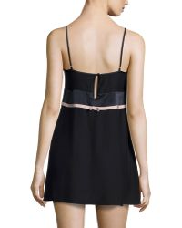 Carolina Herrera - Sleeveless Two-tone Chemise - Lyst