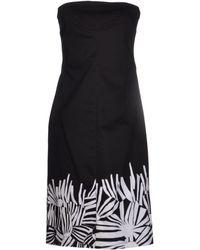 Max Mara Studio Short Dress black - Lyst