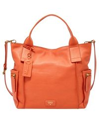 Fossil 'Emerson' Leather Satchel - Lyst