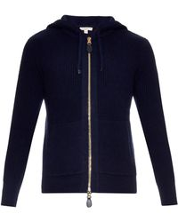 Burberry Brit - Woodsford Wool And Cashmere-knit Zip-up Sweater - Lyst