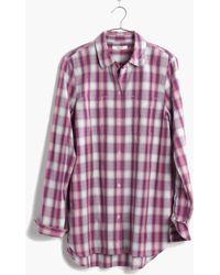 Madewell Ex-Boyfriend Shirt In Manhasset Plaid - Lyst