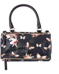 "Givenchy Leather Magnolia Print Medium ""Pandora"" Bag floral - Lyst"
