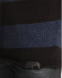 Diesel Crono Sweater with Black Stripes and Round Collar - Lyst