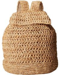 Hat Attack Raffia Backpack - Lyst