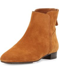 Delman Myth Suede Ankle Boots - Brown