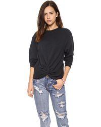 Cheap Monday Knot Sweatshirt Black - Lyst