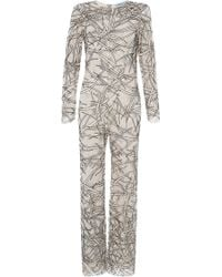 Blumarine - Bamboo Embroidered Jumpsuit - Lyst