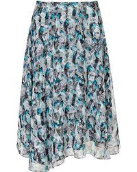 Prabal Gurung Printed Chiffon Asymmetric Circle Skirt - Lyst