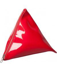 Junya Watanabe 3D Triangular Zipped Pouch Red - Lyst