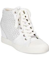 DKNY Cindy Wedge Sneakers - Lyst