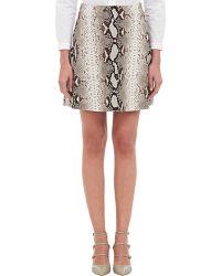 Carven Crepe Mini Skirt - Lyst