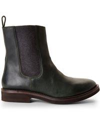 Brunello Cucinelli Dark Green Chelsea Boots - Lyst