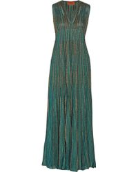 Missoni Striped Metallic Knitted Maxi Dress - Lyst