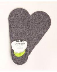 Mr Gray - No Show Loafer Sock In Grey Melange - Lyst