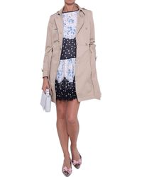 RED Valentino Bow Cotton Trench - Lyst