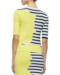 Risto - Striped/solid Knit Combo Top - Lyst