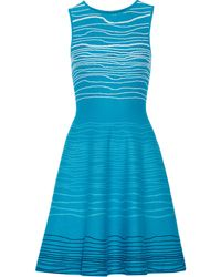 Issa Blue Jacquardknit Dress - Lyst
