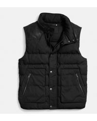 Coach Summit Down Vest - Lyst