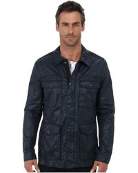 John Varvatos Four Pocketed Zip and Snap Front Jacket - Lyst