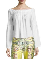 Nanette Lepore Island Party Peasant Top - Lyst