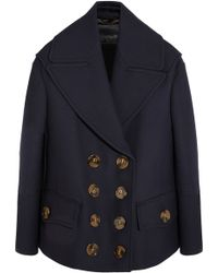 Burberry Prorsum Wool and Silk-blend Coat - Lyst
