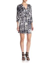 Parker Catalina Printed Blouson Dress - Lyst