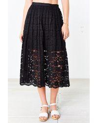Kimchi blue Lace Midi Skirt in Black | Lyst